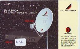 Télécarte Japon SATELLITE (636) ESPACE * TERRESTRE * TELEFONKARTE * Phonecard JAPAN * - Espace