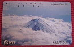 Telefonkarte Asien Japan NTT Vulkan  Telephone Card 1990 - Vulkane