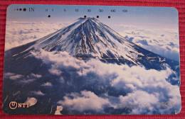 Telefonkarte Asien Japan NTT Vulkan  Telephone Card 1989 - Volcanos