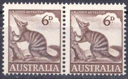 Australia 1959 Zoologicals 6d Anteater MNH Pair - Mint Stamps