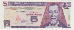Guatemala 5 Quetzal 1993 Pick 88 UNC - Guatemala