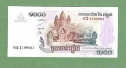 CAMBODGE P58b    1000  RIELS    2007       UNC. - Cambodia