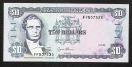 JAMAIQUE JAMAICA  P71e  10  DOLLARS   1994    UNC. - Jamaica