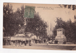 66 - PERPIGNAN - Le Palmarium Et La Statue François ARAGO - Animation - Perpignan