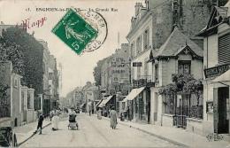 ENGHIEN LES BAINS La Grande Rue Publicité MAGGI - Enghien Les Bains
