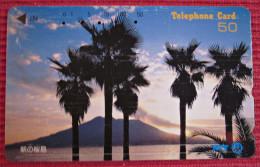 Telefonkarte Asien Japan NTT Vulkan Landschaft Berge Telephone Card 1992 - Vulcani