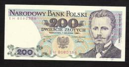 POLOGNE POLAND P144c   200  ZLOTYCH    1988    UNC. - Polonia
