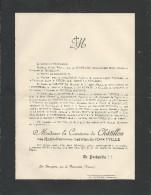 Annonce Décés/Mrie-Hortense-Hedwige De Forceville Comtesse De Châtillon/39ans/ 1893   FPD12 - Décès
