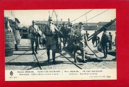 GUERRE 1914 1915 DANS LES BALKANS SALONIQUE GRECE L ETAT MAJOR ARRIVE A TERRE  CARTE EN BON ETAT - Guerre 1914-18