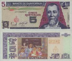 Guatemala 5 Quetzal 2006 Pick 106b UNC - Guatemala