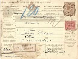 REGNO PACCHI POSTALI- MOD. 402B) £ 1,25 BILINGUE -BULLETTINO DI SPEDIZIONE - Colis-postaux
