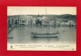 GUERRE 1914 1915 DANS LES BALKANS VUE DU PORT DE SALONIQUE CARTE EN BON ETAT - Guerre 1914-18