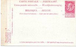 Postkaart - Belgie 10 Centimes - Postal Services