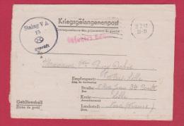 KRIEGSGEFANGENENPOST  //  STALAG V A  // POUR LILLE  //  22/2/1942 - Allemagne