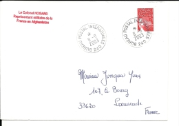 Lettre  Troupes  Françaises En Afghanistan, BPM 240 , 2003 (525) - Militares
