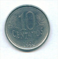 F3613 / - 10 CENTAVOS  - 1994  -  Brazil Bresil Brasilien Brazilie - Coins Munzen Monnaies Monete - Brasilien