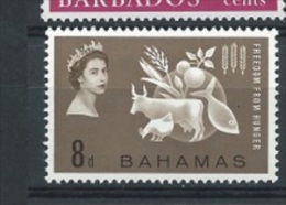 Bahamas 1963  Hunger  Mi.-Nr. 185 * Falz - 1963-1973 Ministerial Government
