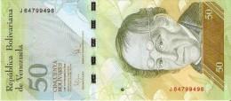 BILLETE DE VENEZUELA DE 50 BOLIVARES DEL 3 DE SEPTIEMBRE 2009 (BANKNOTE) OSO FRONTINO (BEAR) SIN CIRCULAR-UNCIRCULATED - Venezuela