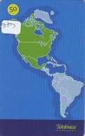 Télécarte  ESPACE (373)  MAP *  GLOBE * SATELLITE * MAPPEMONDE * Telefonkarte Phonecard  * TERRESTRE - Espace