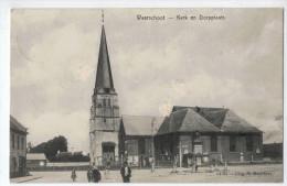 Waarschoot - Waerschoot - Kerk En Dorpplaats (1910) - Waarschoot