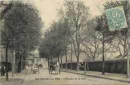 Charente-maritime - Ref F364   Rochefort  - L'avenue De La Gare - Carte Bon état - - Rochefort