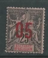 Anjouan N° 24 XX Type Groupe Surchargé : 05 Sur 25 Noir Sur Rose, Sans Charnière, TB