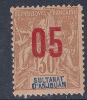 Anjouan N° 25 XX   Type Groupe Surchargé : 05 Sur 30 C.  Sans Charnière TB