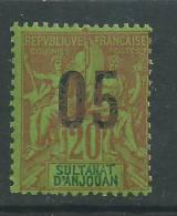 Anjouan N° 23 XX Type Groupe Surchargé : 05 Sur 15 Bleu, Sans Charnière, TB