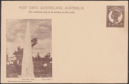 Queensland 1898. Entier Postal, Timbrée Victoria 1 P. Charleville Bore, Jet D'eau Naturel - Géologie