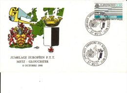 Jumelage Européen PTT Metz - Gloucester N° 2531 Y&T 8 Octobre 1988 - Marcophilie (Lettres)