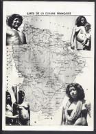 THEMES - CARTE GEOGRAPHIQUE  DE LA GUYANE FRANCAISE - JOLIMENT ILLUSTREE - TRES BON ETAT - - Landkarten