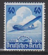 Allemagne N° PA 54 * Commémoratif Du 10ème Ann De La Cie Lufthanza - 1936 - Poste Aérienne