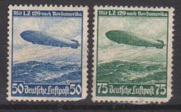 Allemagne N° PA 55 - 56 * 1er Voyage Du Zeppelin L.Z.-129 Vers L'Amérique Du Nord - 1936 - Poste Aérienne
