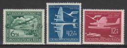 Allemagne N° PA 59 - 61 * 25ème Ann Du Service Postal Aérien - 1944 - Poste Aérienne