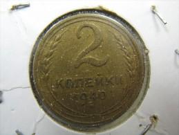 RUSSIA 2  KOPEK KOPEKS 1940  LOT 13 NUM  27 - Russie