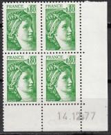 N° 1970 - Daté 14/12/77 - X X - - Ecken (Datum)