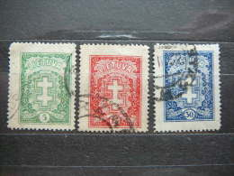 Lietuva Litauen Lituanie Litouwen Lithuania 1929  Set Of 3  Used # Mi. 288/0 - Lituanie