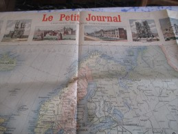 Affiche/Le Petit Journal / Carte De L´Europe / Uniformes Des Armées Européennes/ Vers 1895  AFF9 - Uniformes