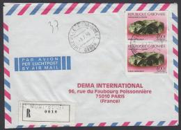 Registred Mail Gabon (Le MontBouët) Vers France - Gabon (1960-...)