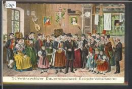 SCHWARZWÄLDER BAUERNHOCHZEIT BADISCHE VOLKSTRACHTEN - PRÄGE KARTE - TB - Deutschland