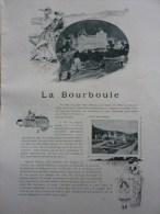 """Document:  Sur """"La Bourboule Par Octave Beauchamp"""" Photos Et Iillustrations, édité En 1899 - Auvergne"""