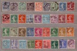 FRANCE OLD Used Gestempelt Oblitere Different Stamps Lot #10137 - Timbres
