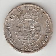 *st Thomas 5 Escudos 1948 Km 6  Vf+ - Sao Tome Et Principe