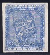 España 135P (*) Maculatura Azul Doble Impresión Sin Dentar - Nuevos