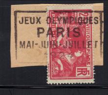 FRANCE- Y&T N°184- Oblitération PARIS -Jeux Olympiques-Mai-juin-Juillet 1924 - Gebraucht