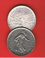 FRANCIA - FRANCE = 5  Franc  1974  KM926a1 - J. 5 Francos