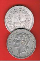 FRANCIA - FRANCE = 5  Franc  1947B  KM888b2 - J. 5 Francos