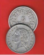 FRANCIA - FRANCE = 5  Franc  1947  KM888b1 - J. 5 Francos