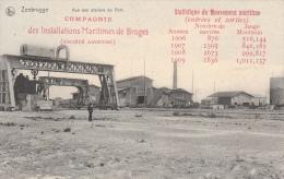 Cpa/pk 1920 Zeebrugge Ateliers Du Port Co Maritimes De Bruges - Zeebrugge