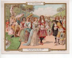 REF AA1  : Chromo Image Ancienne Au Bon Marché Costume De 1700 Le Menuet - Au Bon Marché